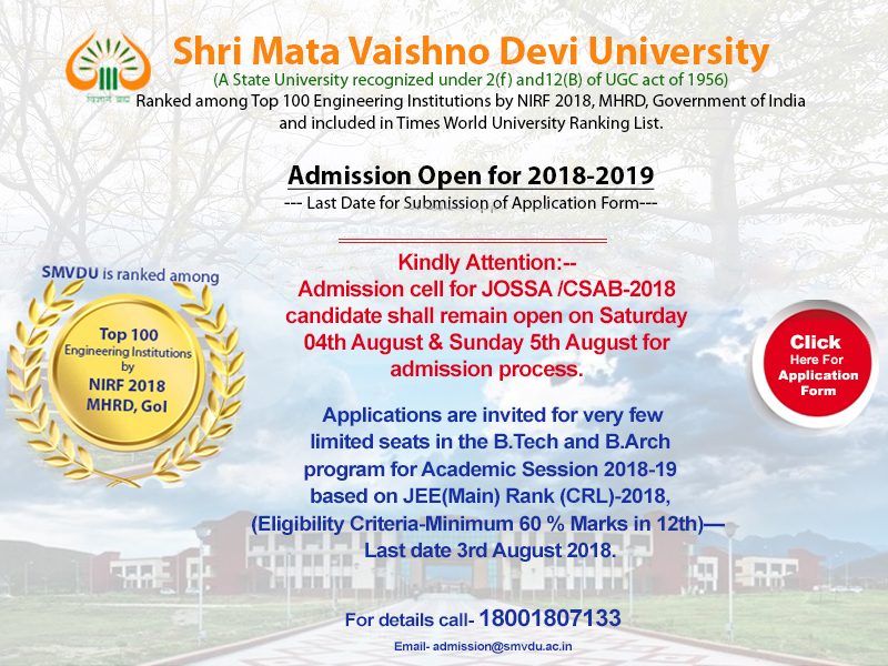 Online admissions 2018-19